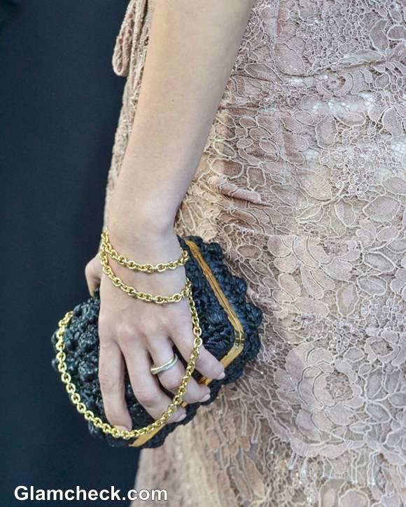 Gold black clutch