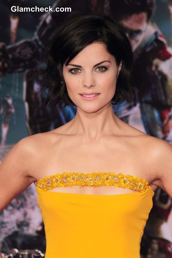 Jaime Alexander Lights Up Red Carpet In Strapless Yellow Gown
