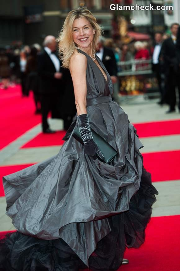 Janie Dee in Ball Gown at Laurence Olivier Awards 2013