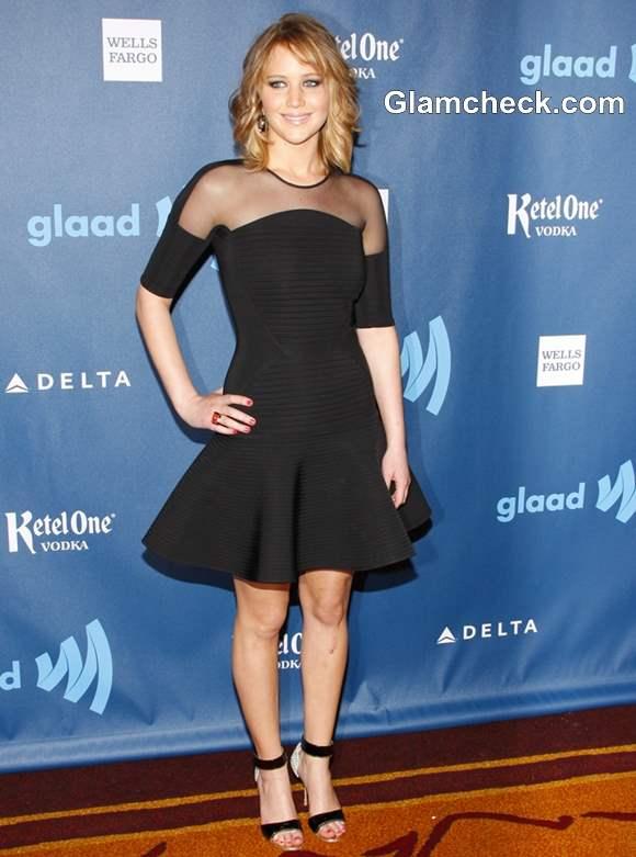 Jennifer Lawrence Rocks Sexy LBD at GLAAD Media Awards 2013