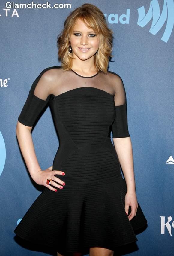 Jennifer Lawrence at GLAAD Media Awards 2013