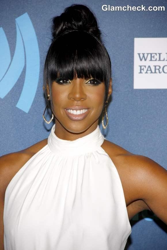 Kelly Rowland Hairstyle at 2013 GLAAD Media Awards