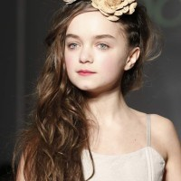 Kids Hairstyle Curly Hairdos with flowers