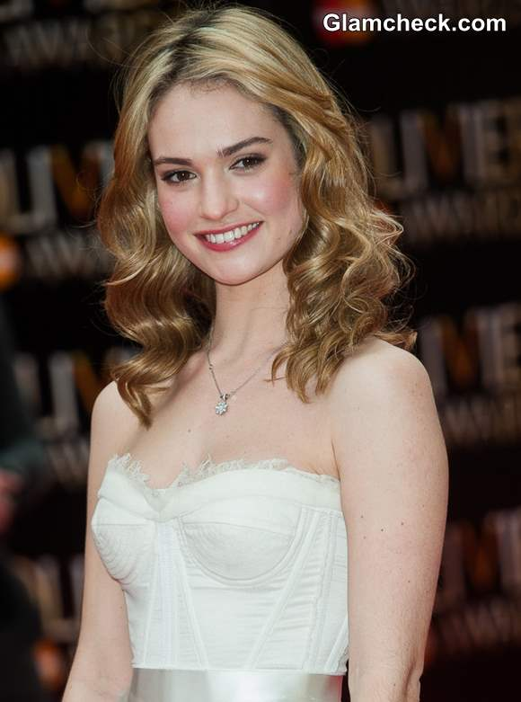 Lily James Glows In Black Amp White At Laurence Olivier