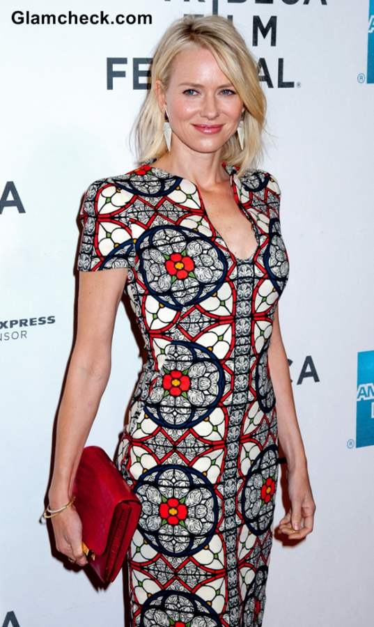 Naomi Watts 2013 in Stained-Glass Dress