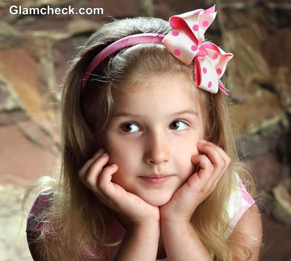 Satin Bow Hair Accessories for Little Girls