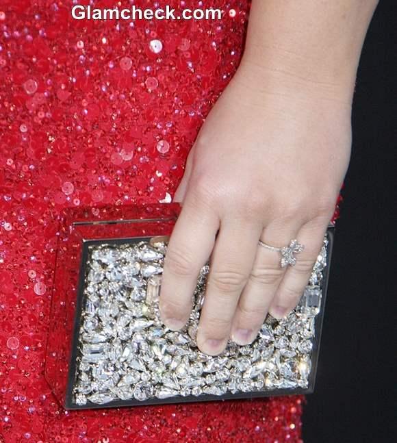 Silver box clutch-handbag