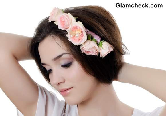Spring Flowers Hairstyles for Short Hair