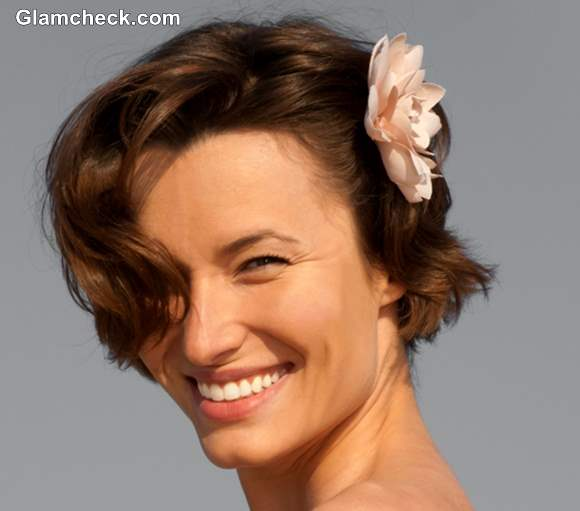 Spring Hairstyles with Flowers Short Hair
