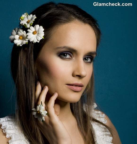 Spring flower hairstyle for short hair