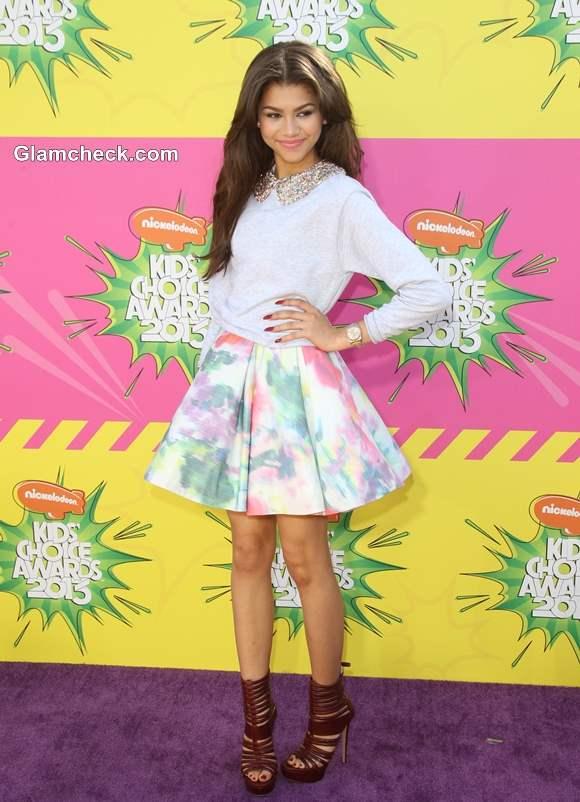 Zendaya Coleman Summer Chic Look at Kids Choice Awards 2013