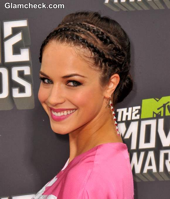 Alexis Knapp Cornrows and Low Bun hairstyle