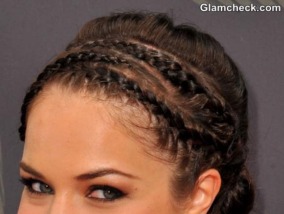 how to make ponytail of straight brazilian weave : Cornrows With Low Bun Hairstyle diy: alexis knapps cornrows and low ...