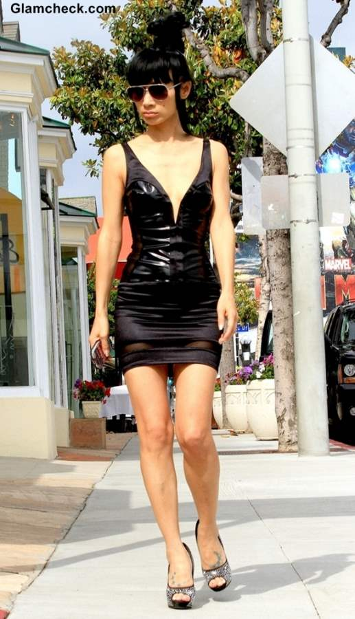 street style bai ling�s super sexy leather look
