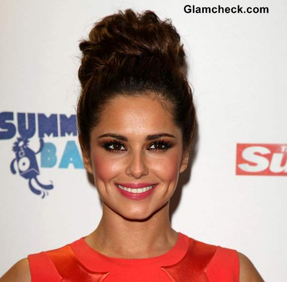 Cheryl Cole Textured Bun Hairstyle DIY
