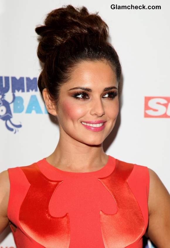 Cheryl Cole Textured Bun Hairstyle Tutorial