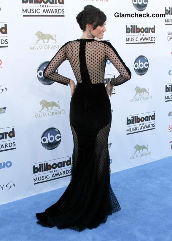 Emmy Rossum Black Gown at 2013 Billboard Music Awards