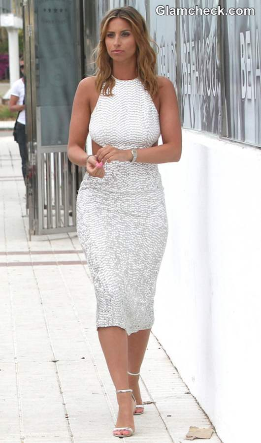 Outfit White Dress Ferne Mccann 2013 White Dress
