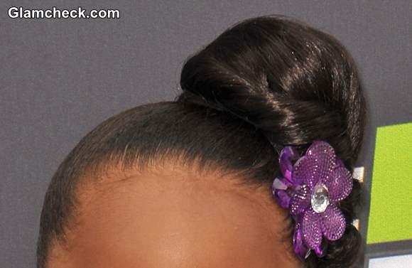Flower Bun Hairstyle for Little Girls DIY