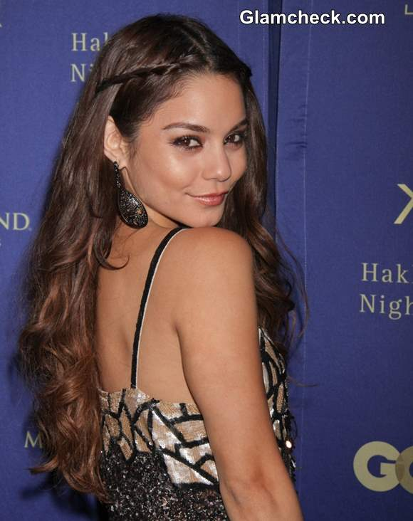 Hairstyle DIY Vanessa Hudgens Pulled-back Curly Do