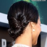 Hairstyle How To Zoe Saldana Twisted Low Bun