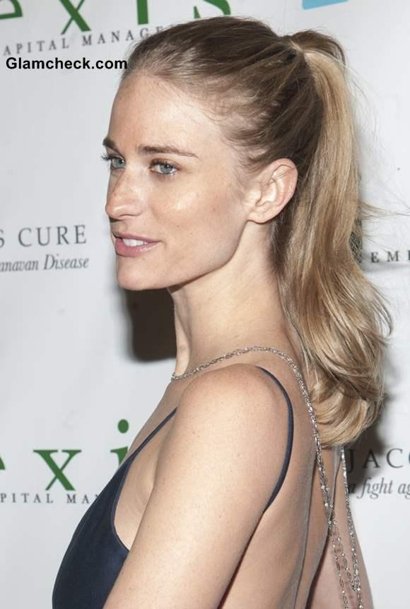 Julie Henderson High Ponytail Hairstyle
