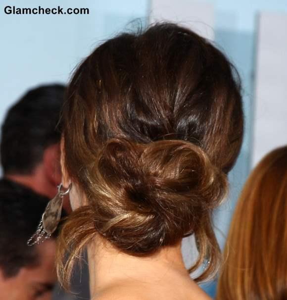 Kate Beckinsale Wears Gorgeous Messy Chignon