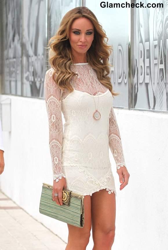 Lauren Pope 2013 white dress