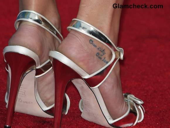 Lea Michele feet tattoo meaning