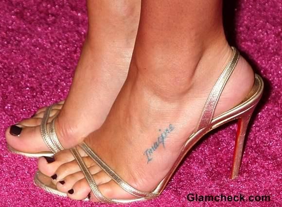 Lea Michele feet tattoo
