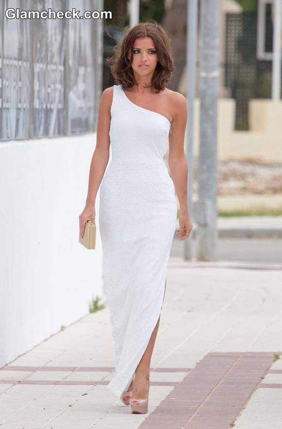 Lucy Mecklenburgh 2013 white dress