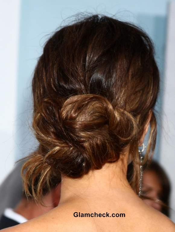 Messy Chignon Hairstyle 2013 Kate Beckinsale