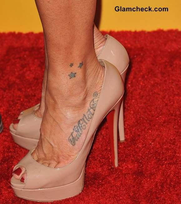 Poppy Montgomery feet tattoo