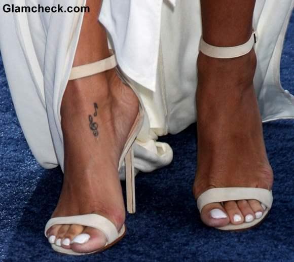 Rihanna feet tattoo
