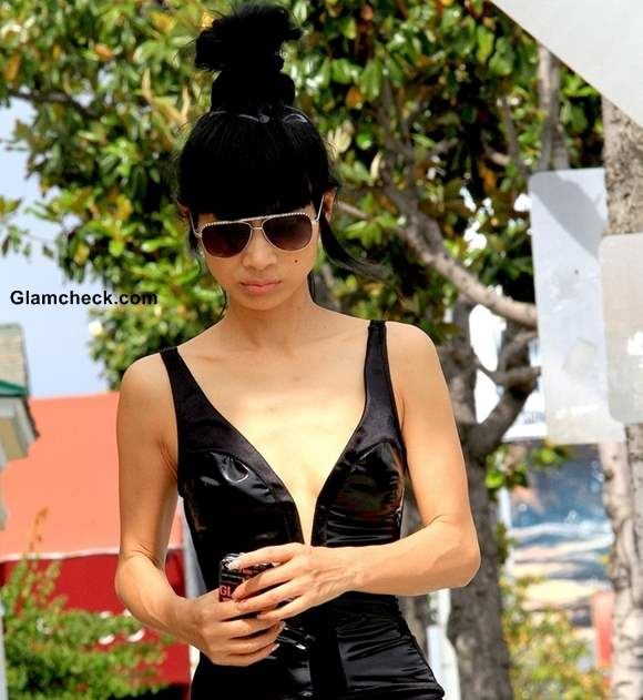 Street Style Bai Ling Super Sexy Leather Look