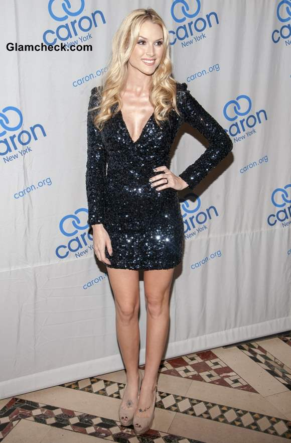 Tara Conner Glitters in Sequinned Mini Dress at Gala Event