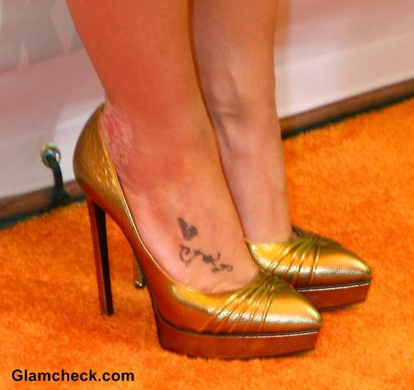 feet tattoo Britney Spears