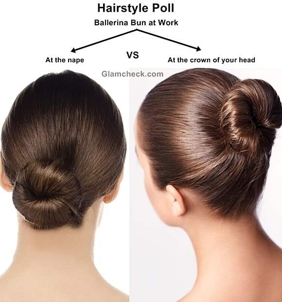 Ballerina Bun hairstyle at work office