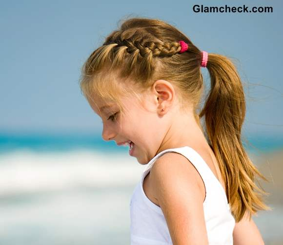 Beach Hairstyle Girls Milkmaid braid