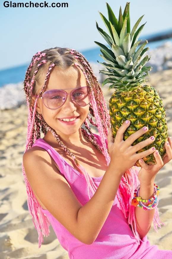 Beach Hairstyle Girls Multiple braids