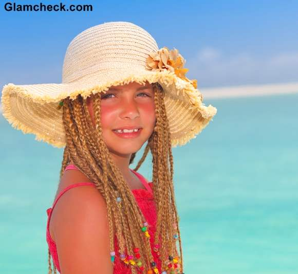 Beach Hairstyle Ideas for Little Girls Multiple braids