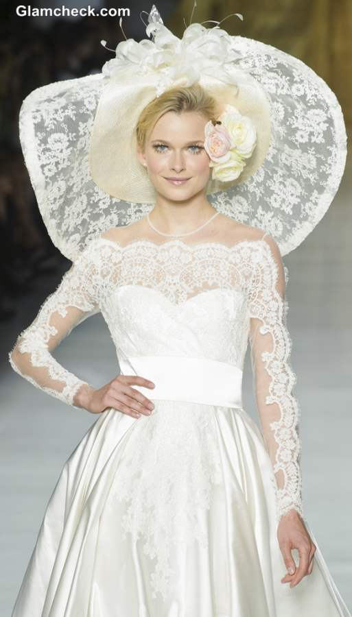 Bride lace hats 2013 Pronovias