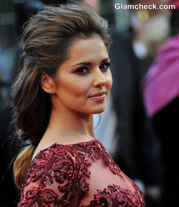 Cannes 2013 Hairstyle Cheryl Cole Fishtail Plait