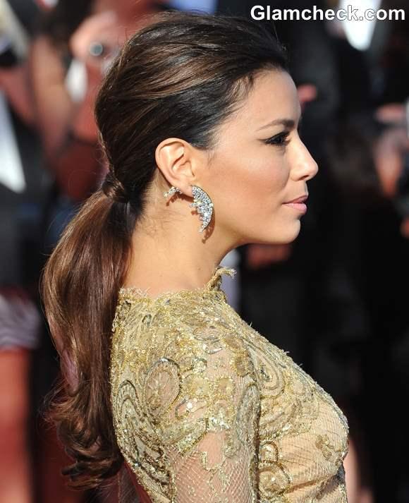 Eva Longoria Wedding Hair Style: Hairstyle DIY: Eva Longoria's Chic Low Ponytail