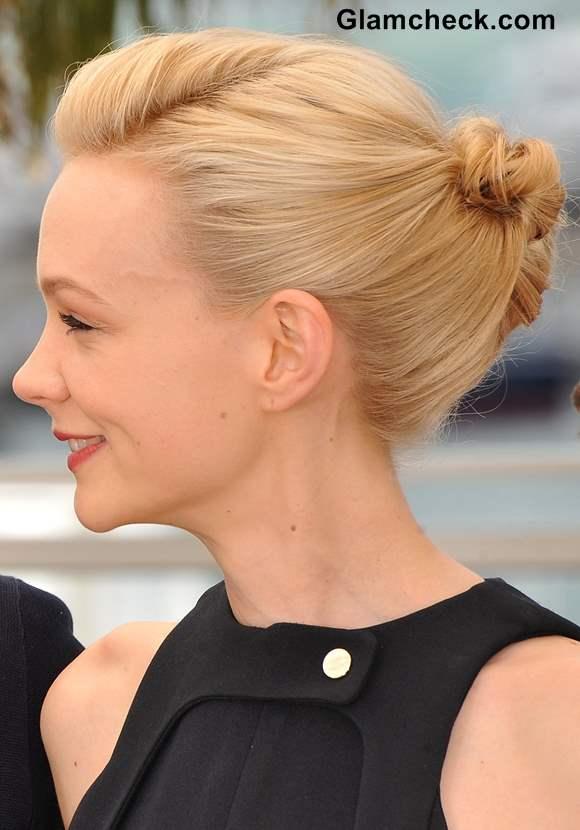 Carey Mulligan Bun Hairstyle Cannes 2013