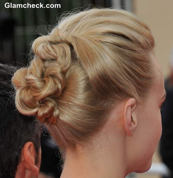 Carey Mulligan Knotted Bun Hairstyle Cannes 2013