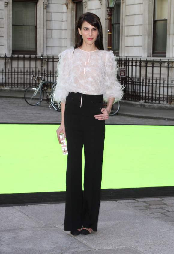 Caroline Sieber Sports Classic Black Pants with Textured Blouse