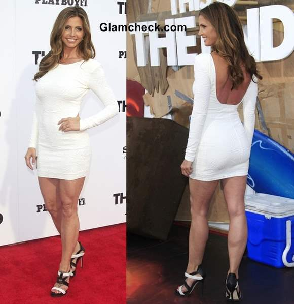 Charisma Carpenter white dress 2013