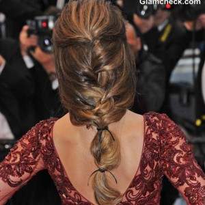 Cheryl Cole Fishtail Plait Cannes 2013