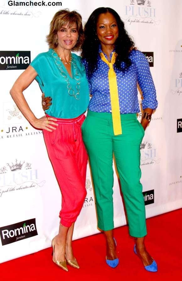 Color Block outfits 2013-Garcelle Beauvais Lisa Rinna